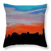 Beautiful Sunset Oil Paint Throw Pillow