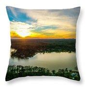 Beautiful Sunset Over Lake Wylie South Carolina Throw Pillow