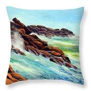 Beautiful Surf Throw Pillow