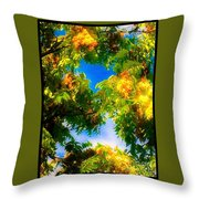 Beautiful Tree Tops In Sky Throw Pillow