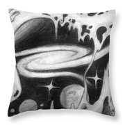Beautiful Universe 2. Space Art Throw Pillow