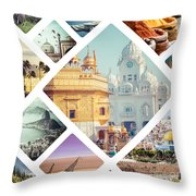 Beautiful Vacation Collage  Throw Pillow