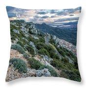 Beautiful View Of Baunei Throw Pillow