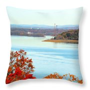 Beautiful View Of The Hudson River 1 Throw Pillow