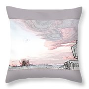 Beautiful Village By Day Throw Pillow