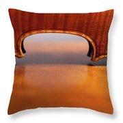 Beautiful Violin Throw Pillow