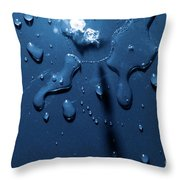 Beautiful Water Splashes Viewed From Above Throw Pillow