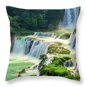 Beautiful Waterfall Crystal Waters Throw Pillow