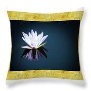 Beautiful Waterlilies Throw Pillow