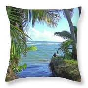 Beautiful Waters Of Puerto Rico Throw Pillow