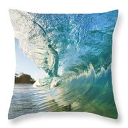 Beautiful Wave And Sunlight Throw Pillow