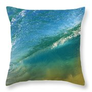 Beautiful Wave Breaking Throw Pillow