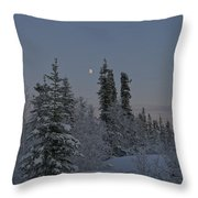 Beautiful Winter Evening Throw Pillow