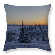 Beautiful Winter Sunrise Throw Pillow