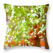 Beautiful Winter Tree Throw Pillow