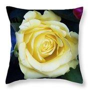 Beautiful Yellow Rose Throw Pillow
