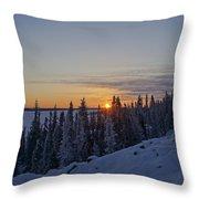 Beautiful Yellowknife Sunrise Throw Pillow