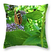 Beauty Among The Leaves Throw Pillow