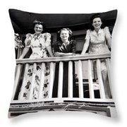 Beauty And Balconies Throw Pillow