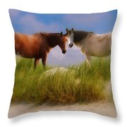 Beauty And Friendship Throw Pillow