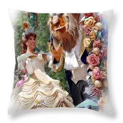 Beauty And The Beast II Throw Pillow
