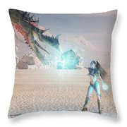 Beauty And The Beast Throw Pillow by Melissa Krauss