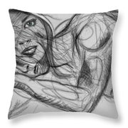 Beauty And The. Beast Throw Pillow