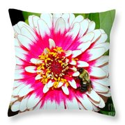 Beauty And The Bee #1 Throw Pillow