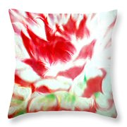 Beauty And The Flaming Tongue Throw Pillow