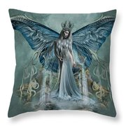 Beauty At Butterfly Falls Throw Pillow