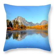 Beauty At The Bend Throw Pillow