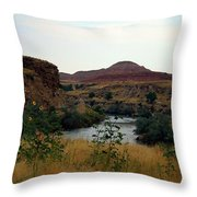 Beauty At The Big Horn River Throw Pillow