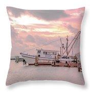 Beauty At The Marina Throw Pillow