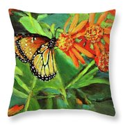 Beauty Attracts Throw Pillow