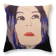 Beauty Beyond The Blue Throw Pillow