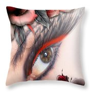 Beauty Beyond The Rose Throw Pillow