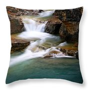Beauty Creek Cascades Throw Pillow