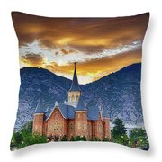 Beauty For Ashes Throw Pillow
