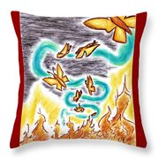 Beauty From Ashes Throw Pillow