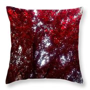 Beauty-full Red  Throw Pillow