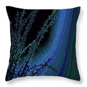 Beauty In A Weed - Colorful Digital Creation Throw Pillow