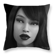 Beauty In B/w Throw Pillow