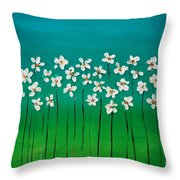 Beauty In Blue Throw Pillow