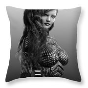Blue Beauty In Bw Throw Pillow