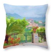 Beauty In Capri Throw Pillow
