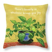 Beauty In Joy Throw Pillow