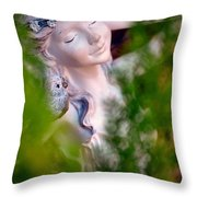 Beauty In The Ferns Throw Pillow