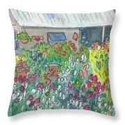 Beauty In The Garden Throw Pillow