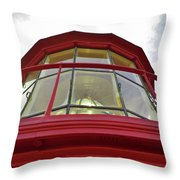 Beauty In The Lighthouse Lens Throw Pillow