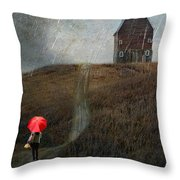 Beauty In The Silver Rain Throw Pillow